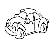 Car cartoon coloring page Stock Photo