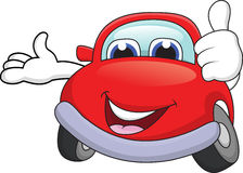 Car cartoon with thumb up Royalty Free Stock Photos
