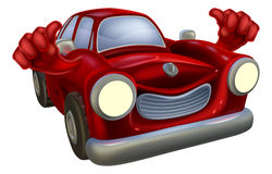 Car cartoon thumbs up Imagem de Stock Royalty Free