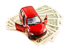 Car and cash Royalty Free Stock Image