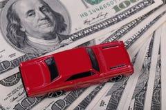 Car and cash Royalty Free Stock Photos
