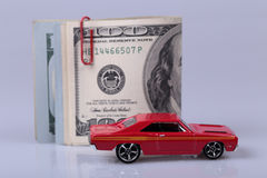 Car and cash Stock Image