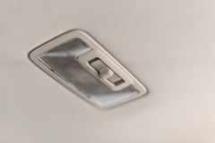 Car ceiling lamp. Interior's details Stock Image