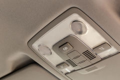 Car ceiling lamp. Interior's details Royalty Free Stock Photo
