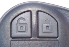 Car Center Locking. With lock and unlock buttons on the car key Stock Photography