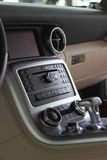 Car central console. Center console and shift stick in a modern car Stock Photography