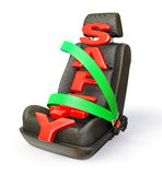 Car chair. Isolated on a white background Royalty Free Stock Images