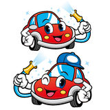 Car Character is Car Wash to Cool. Vector Car Mascot Design Series Royalty Free Stock Photography
