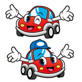 Car Character has been welcomed with both hands. Vector Car Masc Stock Photography