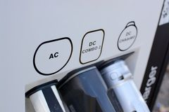 Car charging point Royalty Free Stock Images