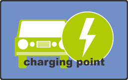 Car Charging Point Illustration Stock Photo
