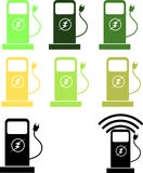 Car charging station icon Stock Photo