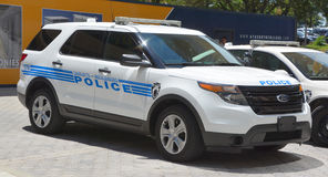 CAr of Charlotte-Mecklenburg Police Department. CHARLOTTE NORTH CAROLINA JUNE 20 2016: Car of Charlotte-Mecklenburg Police Department of the City of Charlotte it Royalty Free Stock Images