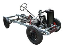 Car Chassis. An Exposed Car Chassis and Engine Royalty Free Stock Photos