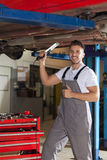 Car chassis inspection approved Stock Photography
