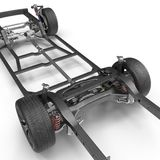 Car Chassis on white. 3D illustration Royalty Free Stock Photo
