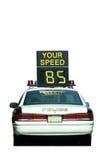 car check police speed Στοκ εικόνα με δικαίωμα ελεύθερης χρήσης