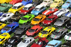 Car for children play or collect or decorate the house. A car like the real market, which has miniaturized into a car stock image