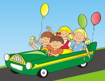 Car and children Royalty Free Stock Photo