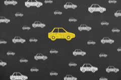 Car Choice Insurance on Blackboard Royalty Free Stock Image