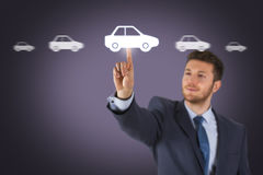 Car Choice on Screen Royalty Free Stock Image