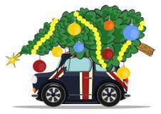 Car with christmas tree Stock Photos