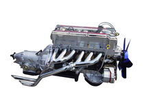 Car chrome engine isolated Royalty Free Stock Photography