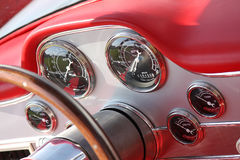 Car classic Dashboard Stock Image