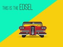 Car classic retro. Vector illustration royalty free illustration