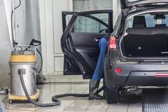 Car clean. Professional clean wash, car service Stock Photo
