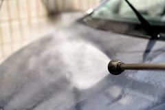 Car at the car wash Stock Photography