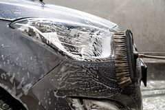 Car at the car wash Stock Image