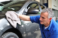 Car cleaning. Royalty Free Stock Photo