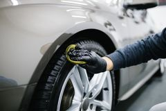 Car cleaning and polishing stock photos