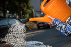 Car cleaning with water Royalty Free Stock Photo
