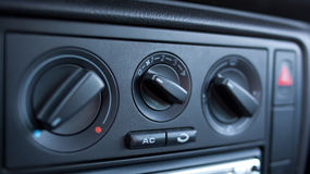 Car climate control Stock Photo