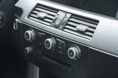 Car climatisation and music control Stock Photos