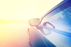Car. Close Up Car Moving Ahead With Color Dramatic Look Royalty Free Stock Photos