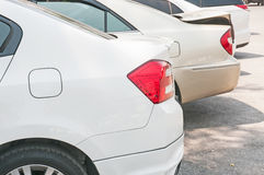Car. Close-up of a taillight on the car Stock Photos