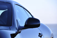 Car in closeup. Fancy sports car in closeup royalty free stock photo