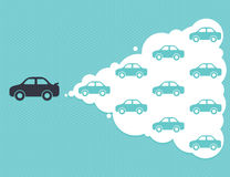 Car cloud leadership concept Royalty Free Stock Image