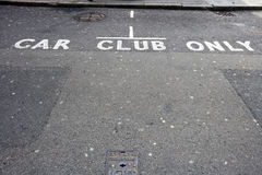 Car Club Only Stock Image