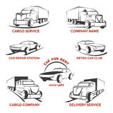 Car club logo vector set Royalty Free Stock Images