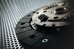 Car clutch on a metal surface Stock Image