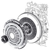 Car clutch scheme Royalty Free Stock Photography