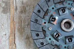 Car clutch on wooden board Royalty Free Stock Photo