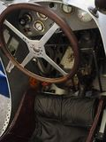 CAR COCKPIT -Goodwood Festival of Speed and Revival. The only historic race meeting to be staged in period theme, recreating the romance and glamour of motor stock images