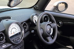 Car cockpit left-hand driving Stock Image