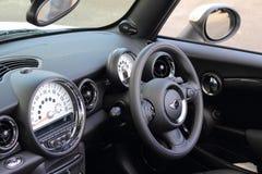 Car cockpit left-hand driving Stock Image