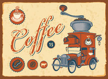 car with coffee grinder Stock Image
